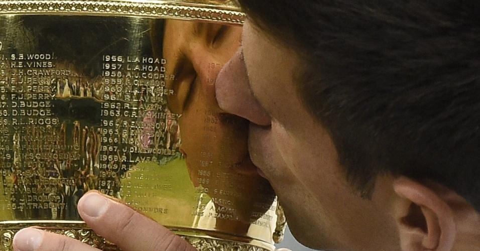 Novak Djokovic na final de Wimbledon