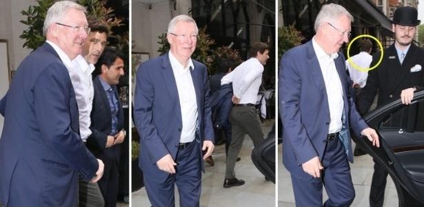 """Sir Alex Ferguson e Mauricio Pochettino foram flagrados pelo jornal britânico """"The Sun"""""""