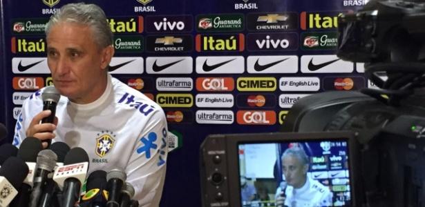 Tite concede entrevista coletiva na véspera do jogo contra o Peru pelas Eliminatórias