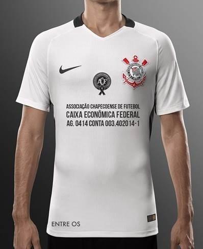 Camisa do Corinthians terá a conta bancará da Chapecoense na última rodada do Campeonato Brasileiro