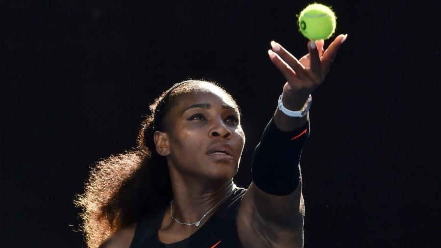 Serena Williams está afastada das quadras desde que venceu o Aberto da Austrália - AFP PHOTO / PAUL CROCK