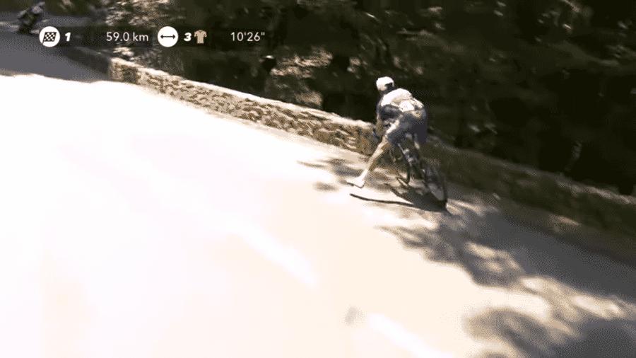 O ciclista belga Philippe Gilbert sofre queda brusca na 16º etapa da Volta da França - Reprodução/YouTube