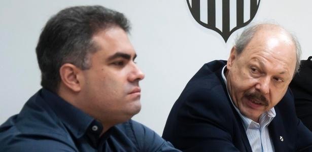 Orlando Rollo (esquerda) ao lado de José Carlos Peres - Pedro Ernesto Guerra Azevedo/Santos FC
