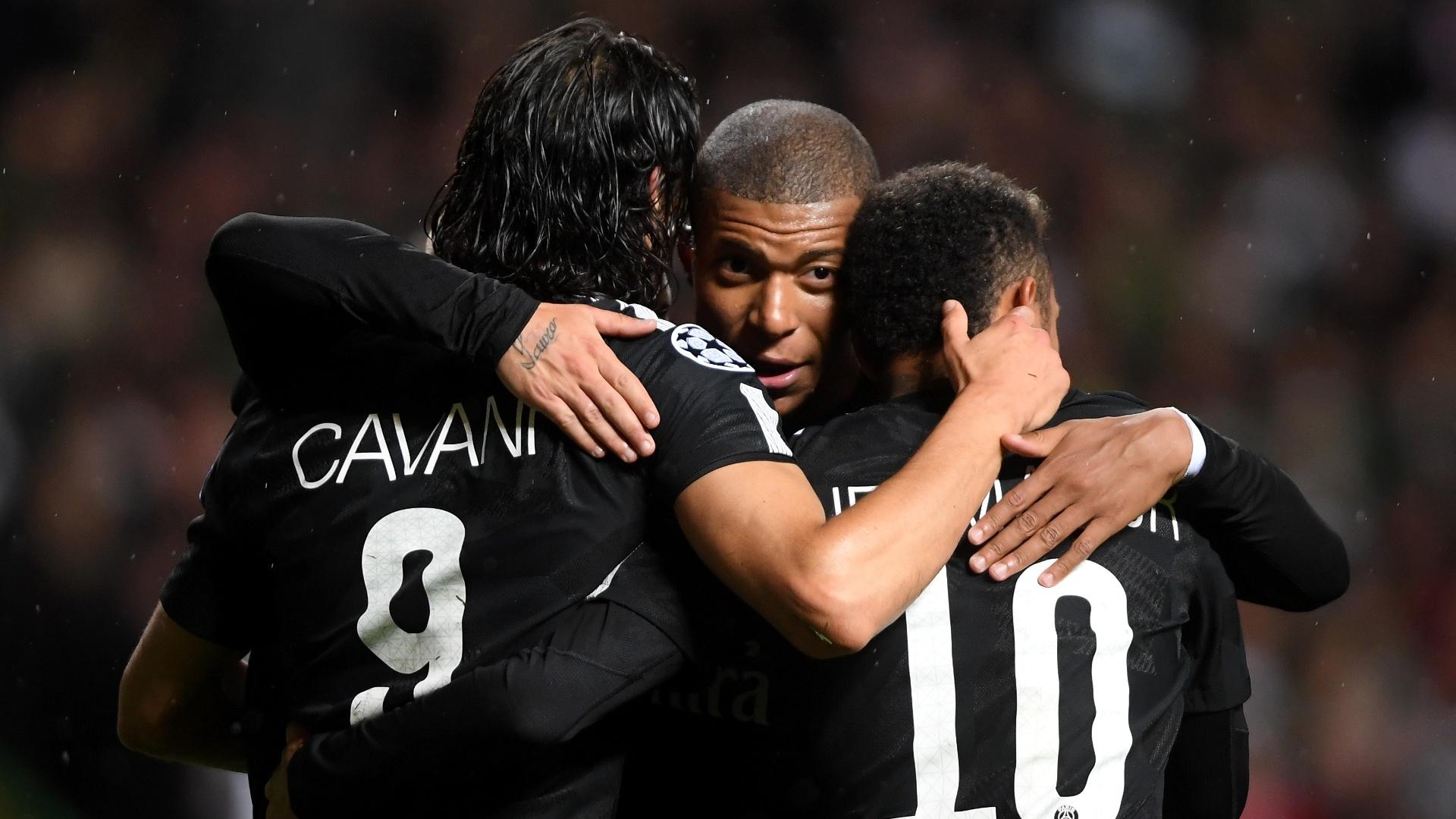 O trio composto por Cavani, Neymar e Mbappé já viveu momentos melhores juntos