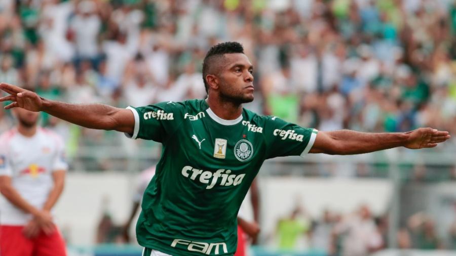 Palmeiras empatou com Red Bull Brasil com gol de Borja (foto). Felipe Reis marcou, mas teve o gol anulado após impedimento - Marcello Zambrana/AGIF