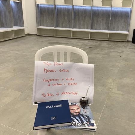 Talleres deixa vestiário do Morumbi limpo após eliminar São Paulo  - Reprodução/Twitter
