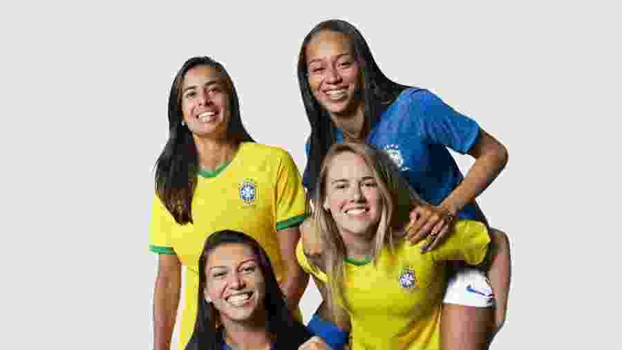 Camisa da seleção brasileira feminina é destaque no mercado nacional durante a Copa do Mundo 2019, na França - divulgação/Nike