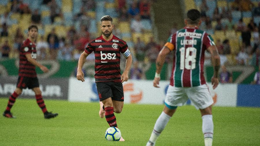 Diego deixou o clássico com o Fluminense durante o intervalo - Alexandre Vidal/Flamengo