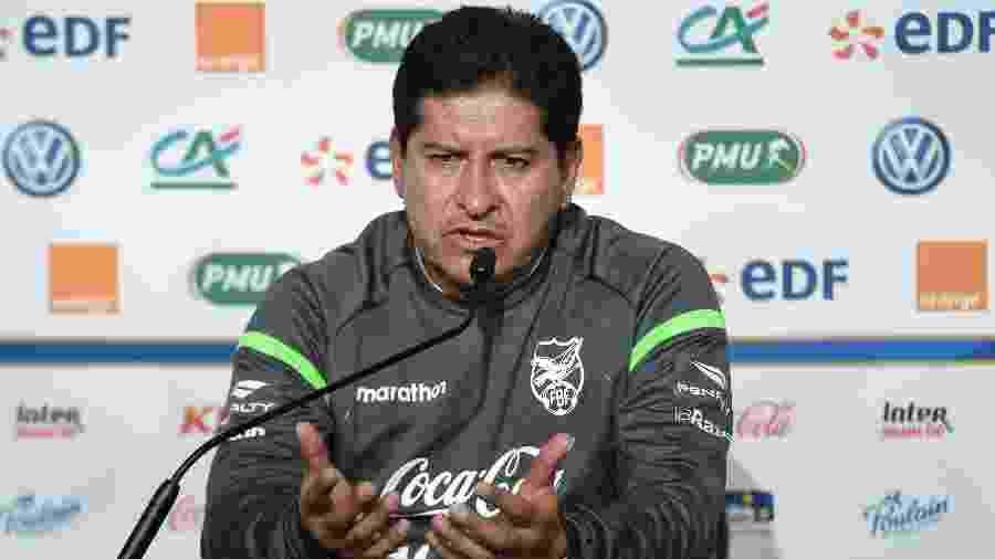 Eduardo Villegas, técnico da Bolívia - Sebastien Salom-Gomis/AFP