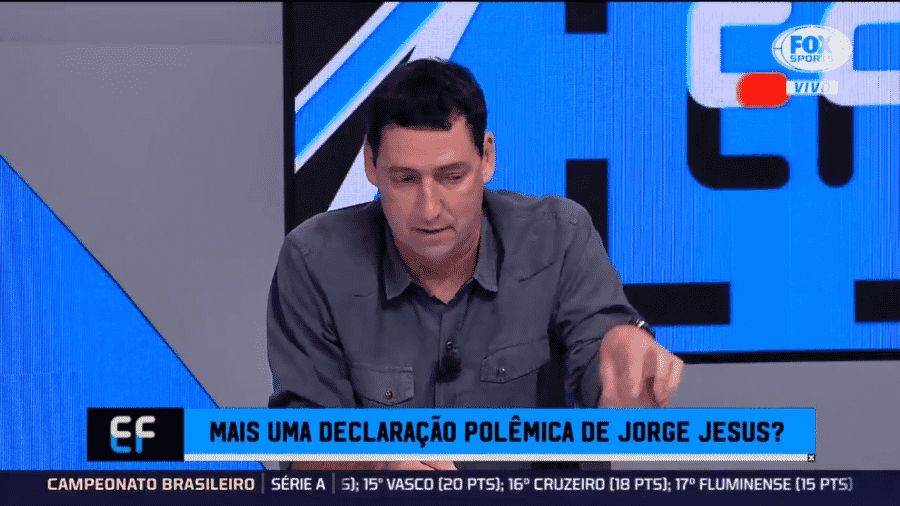 PVC fala sobre declaração de Jorge Jesus - Reprodução/Fox
