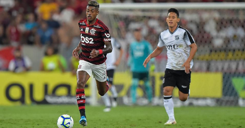 Bruno Henrique, durante partida entre Flamengo e Ceará