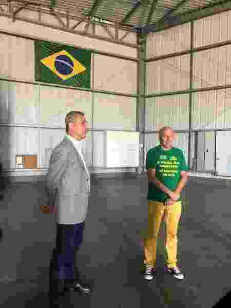 Alexandre Campello, presidente do Vasco, ao lado de Luciano Hang, dono da Havan - Reprodução Twitter