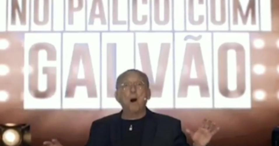 Galvão Bueno anuncia a peça 'No Palco com Galvão'