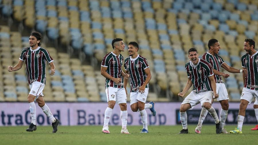 Elenco do Fluminense se incendiou para derrubar favorito Flamengo em clássico pela final da Taça Rio - Lucas Merçon/Fluminense FC
