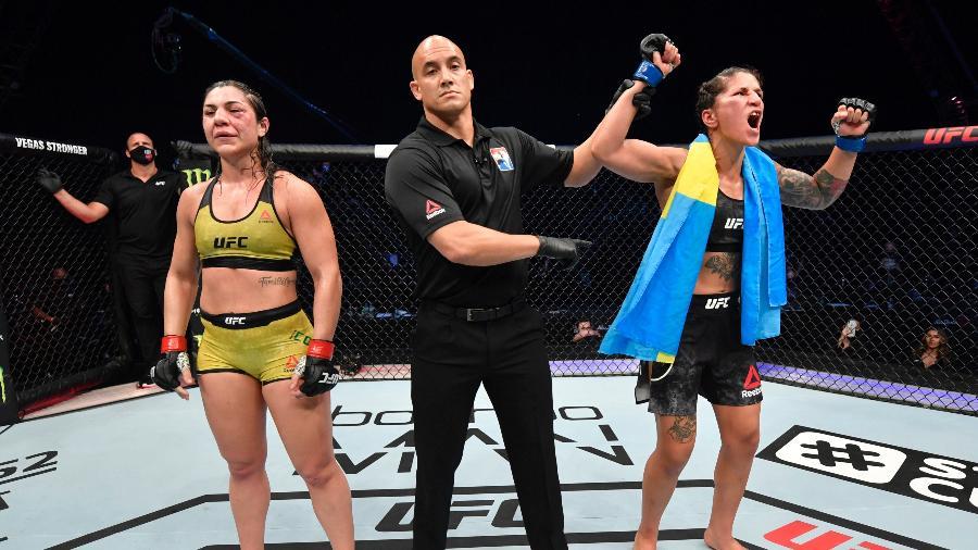 No Ultimate desde 2013, lutadora (à esquerda) foi dispensada após perder para Pannie Kianzad no último dia 26 de julho - Jeff Bottari/Zuffa LLC via Getty Images