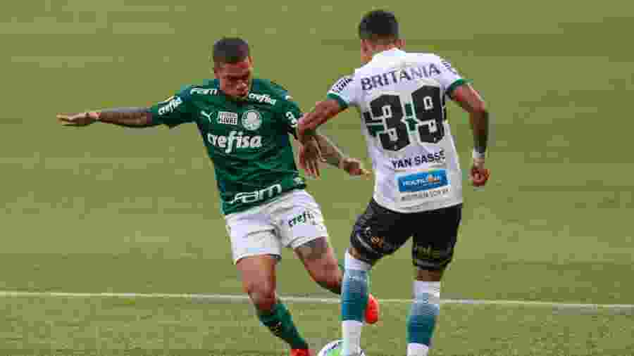 Lance do duelo entre Palmeiras e Coritiba no Allianz Parque, pelo Brasileirão - Marcello Zambrana/AGIF