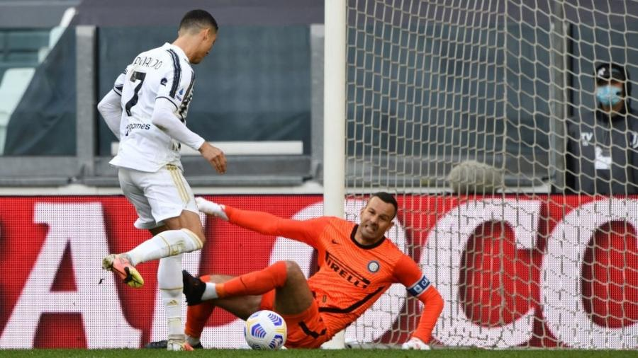 Cristiano Ronaldo marcou o primeiro gol da Juventus contra a Internazionale - Chris Ricco/Getty Images
