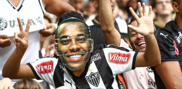 Torcida do Atlético-MG celebra vitória sobre o Villa Nova-MG
