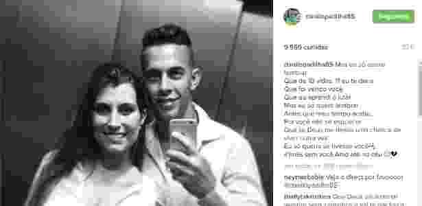 Esposa de Danilo deixou mensagem no Instagram do jogador  - Reprodução/Instagram