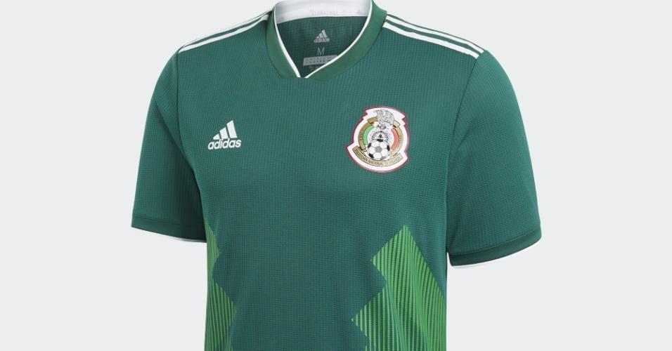 dc621f7af Uniforme do México para Copa do Mundo de 2018