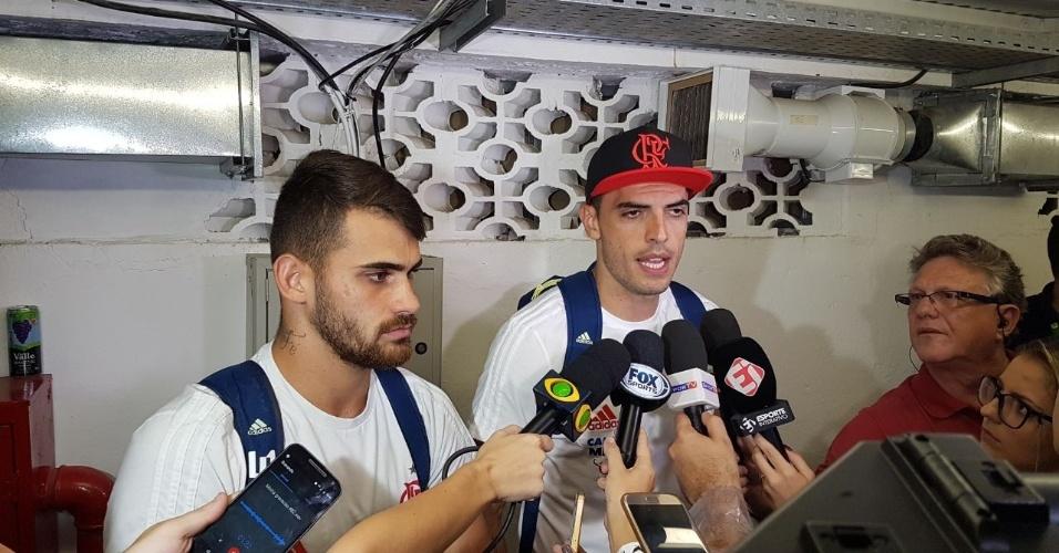 Paz após briga em campo | Rodolfo e Vizeu dão entrevista e encerram discussão após jogo do Fla