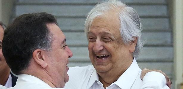 Teixeira e Modesto seguem no mesmo grupo, mas união está ameaçada - Divulgação/SantosFC