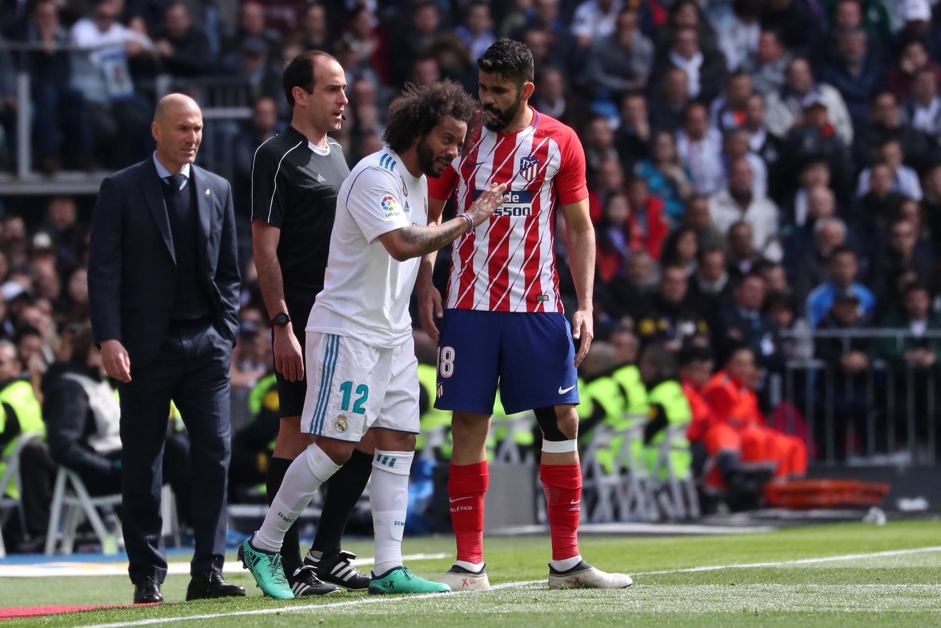 ecd7915101 Real e Atlético empatam em clássico e continuam na briga por vice-liderança  - 08 04 2018 - UOL Esporte