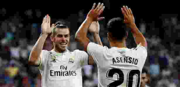 Bale e Asensio comemoram gol do Real Madrid contra o Getafe - Sergio Perez/Reuters - Sergio Perez/Reuters