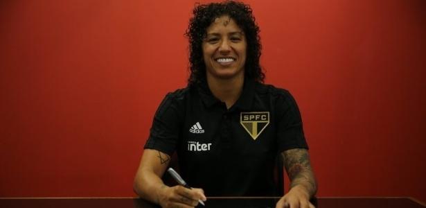 Atacante da seleção foi a principal contratação do Tricolor para a equipe feminina - Renata Damasio/saopaulofc.net