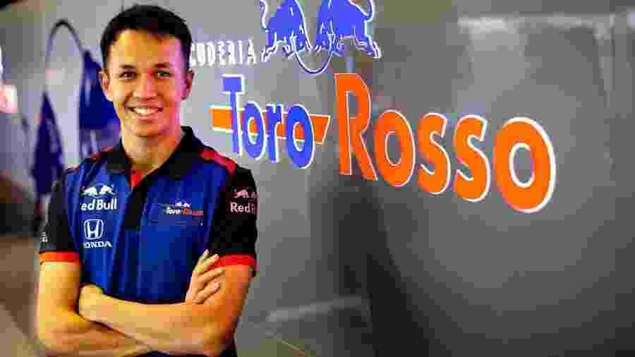 Alexander Albon, da Toro Rosso - Divulgação Toro Rosso