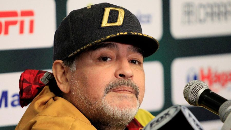 Diego Maradona, técnico do Dorados - REUTERS/Jose Luis Gonzalez