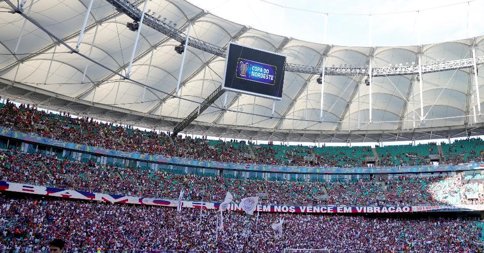 Torcida do Bahia enche a Fonte Nova em Ba-Vi da Copa do Nordeste