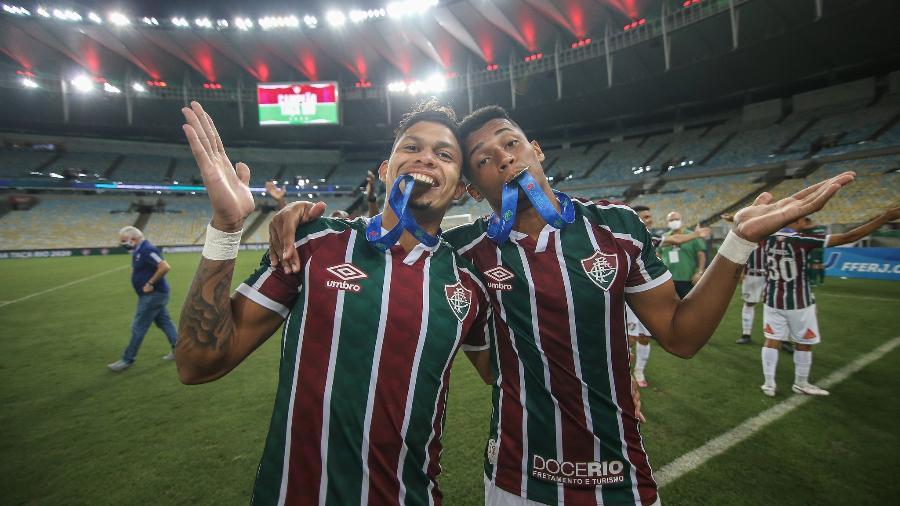 Marcos Paulo e Evanílson fazem melhor dupla do Fluminense em 2020, mas não têm titularidade garantida - Lucas Mercon/Fluminense FC