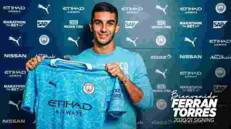 Ferrán Torres - Divulgação / Manchester City - Divulgação / Manchester City