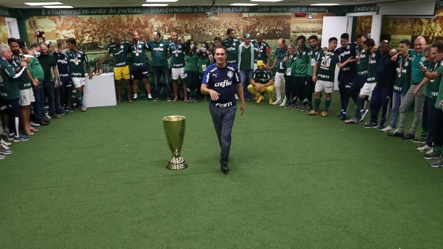 Vanderlei Luxemburgo após a conquista do título paulista pelo Palmeiras - Cesar Greco