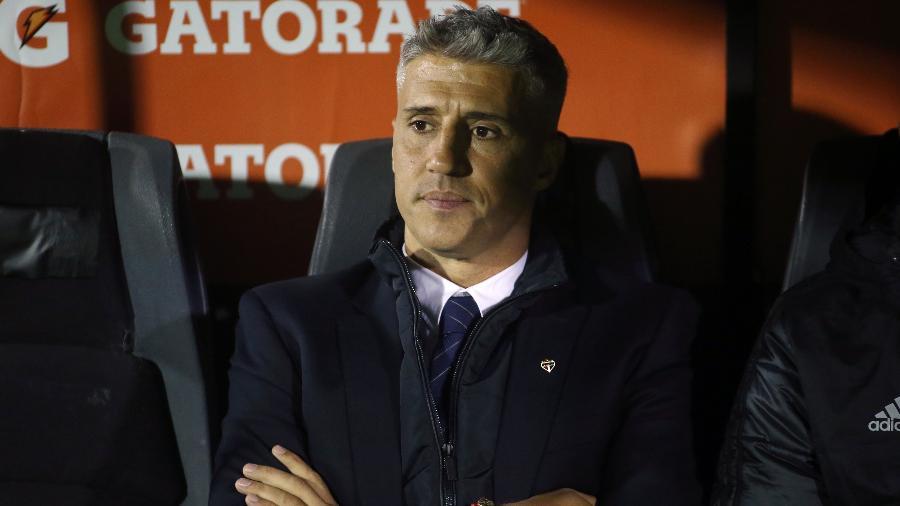 Hernán Crespo durante a partida do São Paulo contra o Rentistas, pela Libertadores - Ernesto Ryan/Getty Images