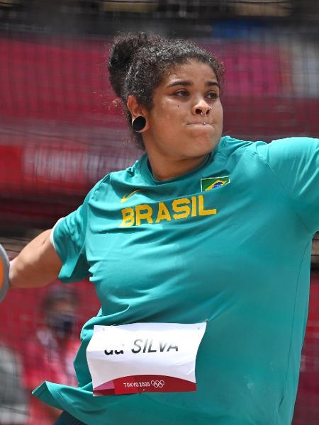 Izabela da Silva se classificou para a final do lançamento de disco feminino - REUTERS/Dylan Martinez