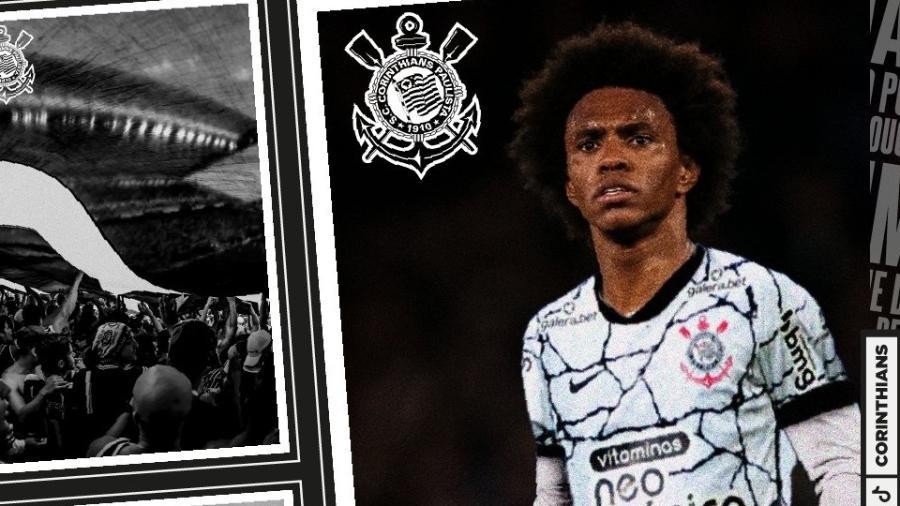 Meio-campista Willian é anunciado como reforço do Corinthians - Divulgação/SCCP