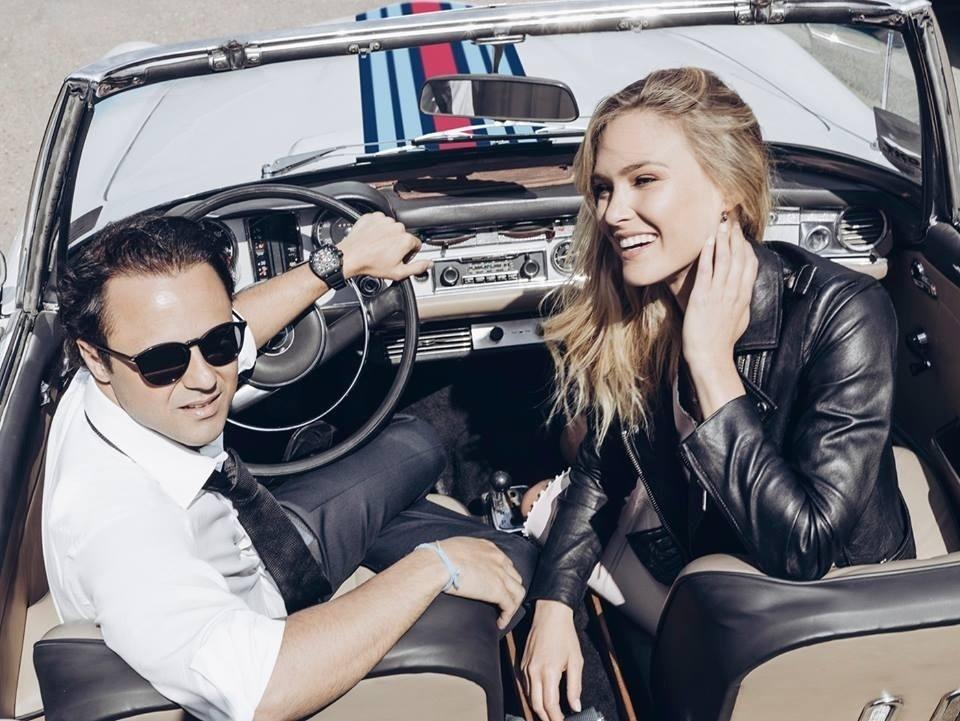 Felipe Massa posa com Bar Refaeli