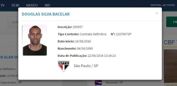 Registro de São Paulo aparece no BID da CBF - Reprodução