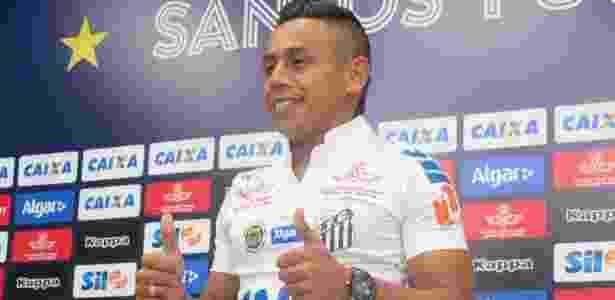Colombiano Vladimir Hernández ainda não teve seu nome publicado no BID - Divulgação/SantosFC