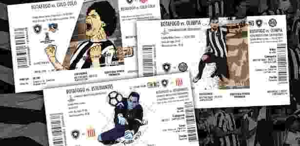 Botafogo inovou com ingressos personalizados em jogos da Libertadores - Divulgação/Botafogo - Divulgação/Botafogo