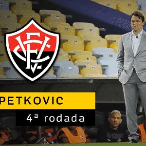 Petkovic anunciou a sua saída para Vitória após a derrota do time para o Fluminense na quarta rodada. Ele integrará a diretoria de futebol do time e foi substituído por Alexandre Gallo. - Arte UOL
