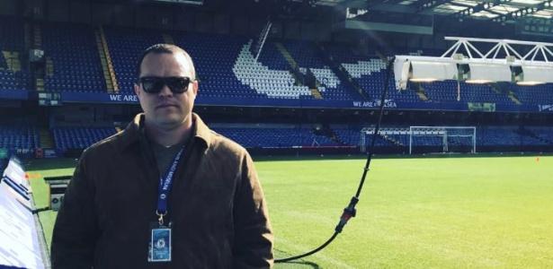 Taciano Pimenta, empresário de futebol, em visita ao Chelsea - Arquivo Pessoal