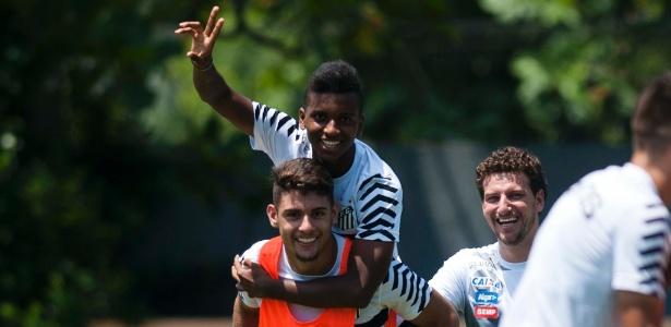 Rodrygo e Yuri Alberto, promessas da base santista - Ivan Storti / Santos FC