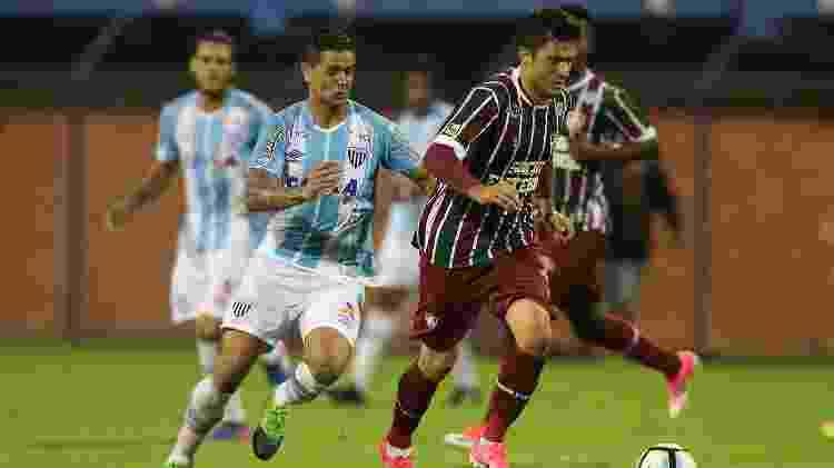 Marquinho pelo Fluminense em 2017 - Cristiano Andujar/AGIF - Cristiano Andujar/AGIF