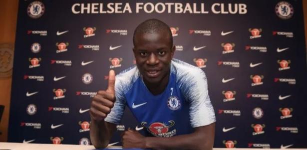 Kanté estendeu seu contrato com o Chelsea por mais cinco anos - Reprodução/Site Oficial Chelsea