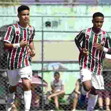 Miguel Silveira (à esquerda), promessa do Fluminense - Mailson Santana/FFC