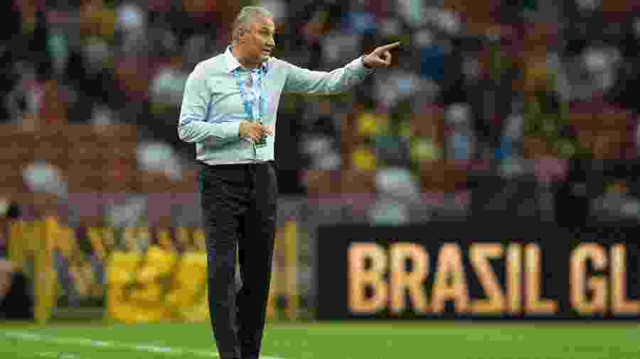 Tite comanda a seleção brasileira no amistoso com a Nigéria - Lucas Figueiredo/CBF