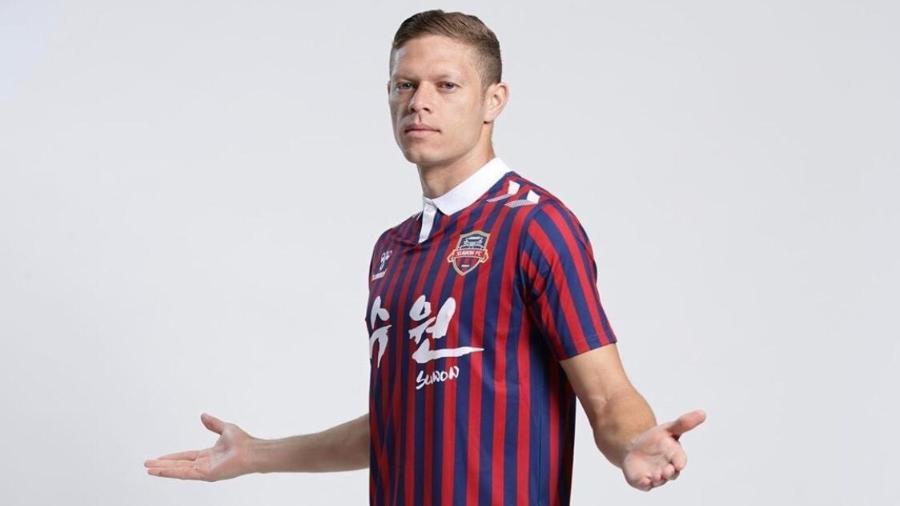 Meio-campista está no país desde o começo do ano e entrou em campo duas vezes pelo Suwon FC, da Segunda Divisão - Divulgação